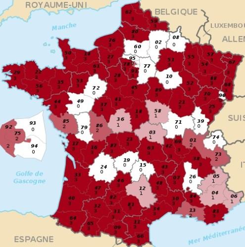 carte des motions par département